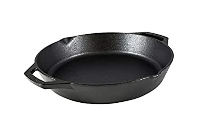 Lodge L10SKL Cast Iron Dual Handle Pan, 12 inch,Black