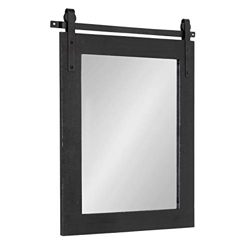 Kate and Laurel Cates Farmhouse Wood Framed Wall Mirror, 22 x 30, -