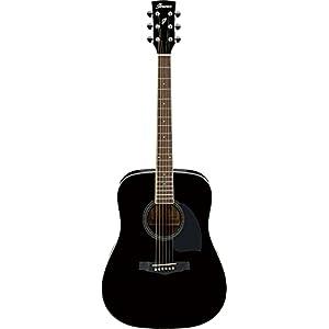 Ibanez PF15-BK Acoustic Guitar, Black 7