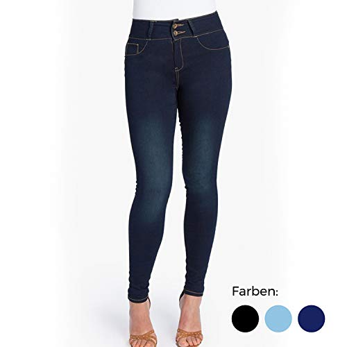 Genius MyFit Jeans | dunkelblau | Jeggins | elastisch Dank des Flex Tech Denim-Stoffes | Style Einer Designer-Jeans | Größen: 32-42 und 44-50 Immer Größe 32-42