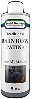 Amjay Paints 8 Oz Traditional Patina - MINT GREEN And 8 Oz Traditional Patina - RAINBOW For Metal polishing