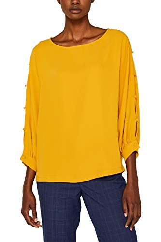 ESPRIT Collection 099eo1f002 Blusa, Amarillo (Amber Yellow 700), X-Small para Mujer