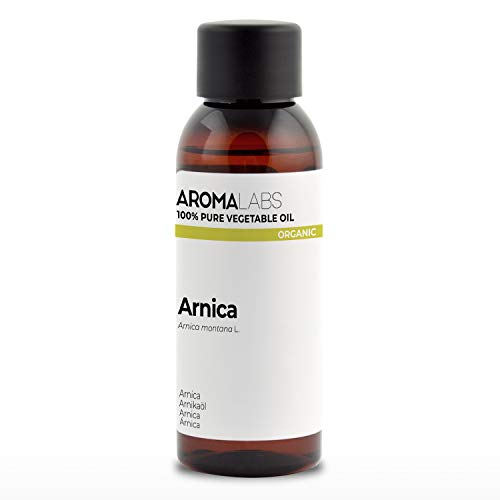 BIO - Olio di Arnica, garantito 100% puro e naturale - Biologico certificato da Ecocert - Aroma Labs