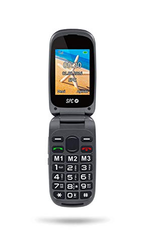 SPC Harmony - Teléfono móvil (Dual SIM, Números y letras grandes, 3 memorias directas, 5 números SOS, cámara de fotos) – Color Negro