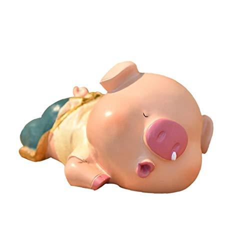 lujiaoshout Dormir Nariz de Cerdo Caja de Dinero de la Moneda Que moquea Resina Diseño Animal Hucha Creative Box Kid Cerdo Money Bank