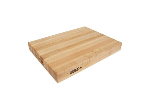 John Boos Block RA02 Maple Wood Edge Grain Reversible Cutting Board, 20 Inches x 15 Inches x 2.25 Inches