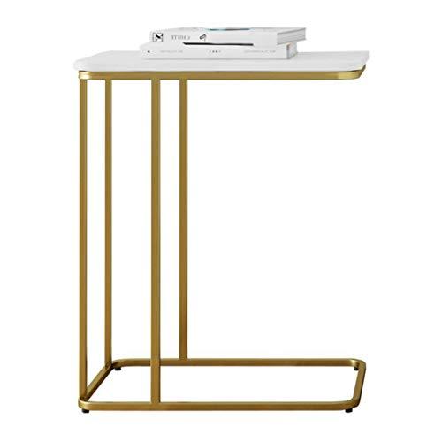 Beistelltisch Couchtisch Sofatisch Wohnzimmertisch Sofa Beistelltisch, Slide Unter Klein und Hoch Kaffee Accent Tabellen, C Shaped Snack Tabellen-Laptop-Tisch, mit Marmortischplatte