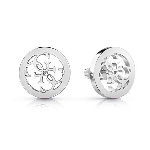 Guess Damen-Ohrstecker Edelstahl Kristall One Size Silber 32002334