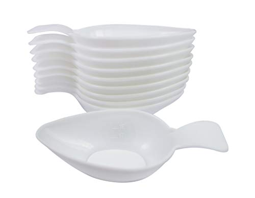 CareLiv Medizinlöffel Kunststoff, 10 Stück - Einnehmelöffel Tropfenlöffel Medizinlöffel Einnehmeglas Medizineinnahme Medizinbecher