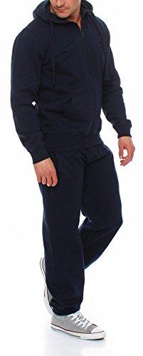 Gennadi Hoppe Herren Trainingsanzug Sweatjacke undTrainingshose Jogginganzug,blau,XXL