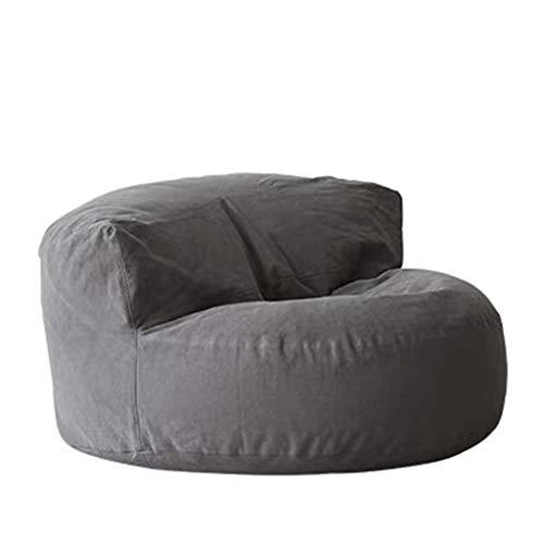 JIY Stoff Fauler Couch Wohnzimmer Schlafzimmer Einzel Freizeit Tatami Schlafzimmer Bean Bag Sitzsackfüllungen (Color : Gray)