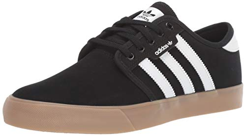 adidas Originals Men's Seeley Sneaker, Black/White/Gum, 4.5 M US