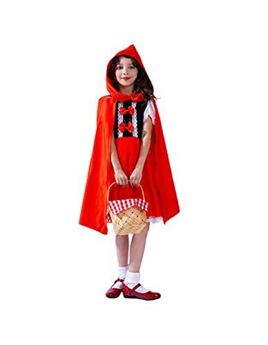 Party Fiesta Disfraz Caperucita Roja para Niña (7-9)