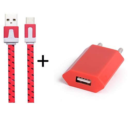 Shot Case Cargador Adaptador USB para LG G6Smartphone/Tablet Rojo