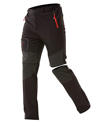 Zoerea Pantaloni Trekking Uomo Asciugare Rapidamente Traspiranti Convertibile Pantaloncini Primavera Estate Sottile All'aperto Alpinismo Escursionismo Calzoni