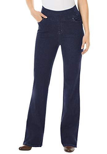 Woman Within Women's Plus Size Bootcut Smooth Waist Jean - 16 W, Indigo Gray