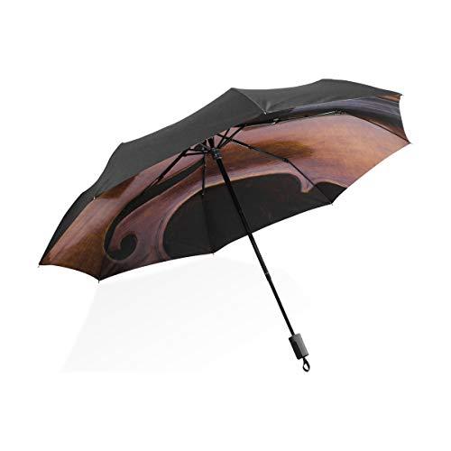 Sonnenschirm für Kinder Alte Geige, die auf dem Notenblatt liegt Tragbarer kompakter zusammenklappbarer Regenschirm Anti-UV-Schutz Winddichte Außenreise Frauen Jungen Regenschirm Kinder