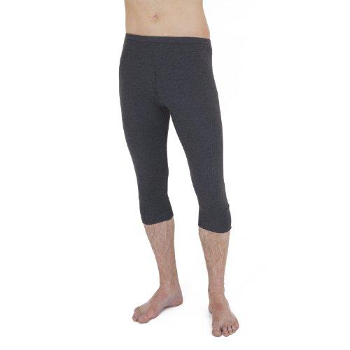 Textiles Universels sous-Pantalon Thermique Longueur 3/4 - Homme (Taille: (L) 91.5-96.5cm) (Gris foncé)