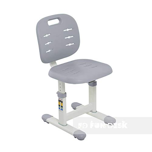 FD FUN DESK SST2 Grey Stuhl höhenverstellbar, Schreibtischstuhl für Kinder, Polypropylen, Grau, 380x360x612 732 mm
