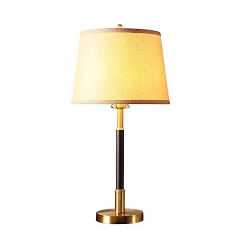 HTL Lámpara de Lectura de Iluminación Decorativa de Cobre Lámpara de Escritorio de Oficina en Casa Dormitorio Lámpara de Cabecera Llevó el Interruptor de Botón Simple Y Duradero