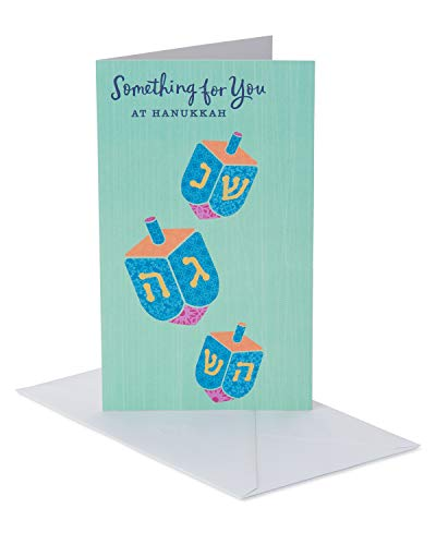 American Greetings Gift Card Holder Hanukkah Cards, Dreidels (6-Count)