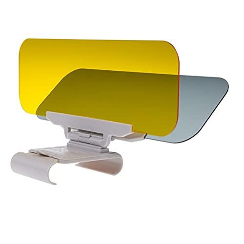 MUIMUI Qunhaha Coche Sombrilla Día y Noche Visera Sol Anti-Dazzle Gafas Clip-On Clip-On Vehebut Shield para el Claro Visor Visor (Color : White)