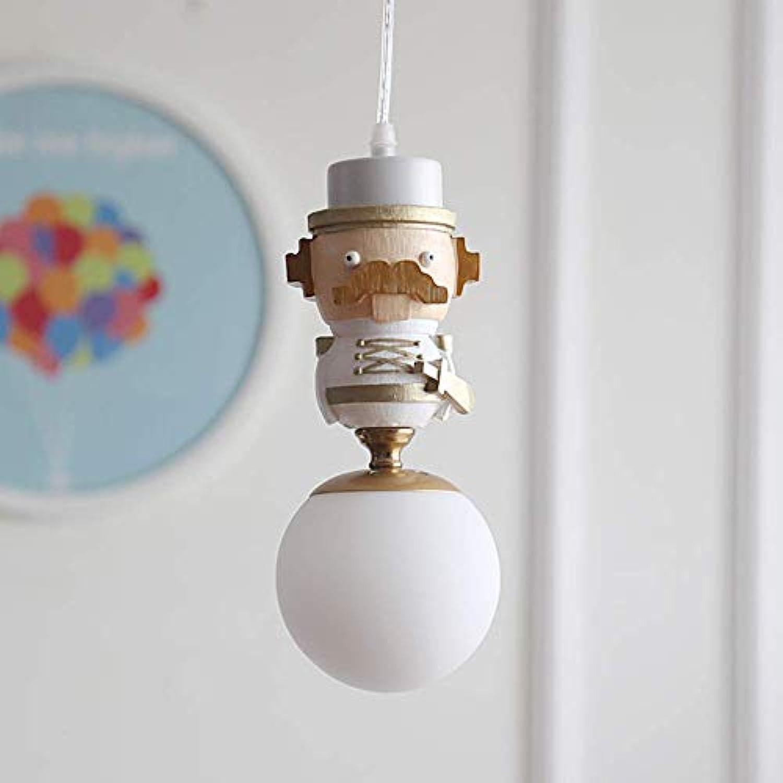 WENYAO Led Kinderzimmer Pendelleuchten Papagu King Resin Leuchte Hard Wire InsGrößetion-Weiß