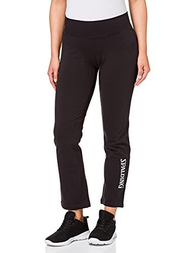 Spalding Long Pants 4her Pantalon Basket Femme, Noir/Gris Argent, FR : M (Taille Fabricant : M)