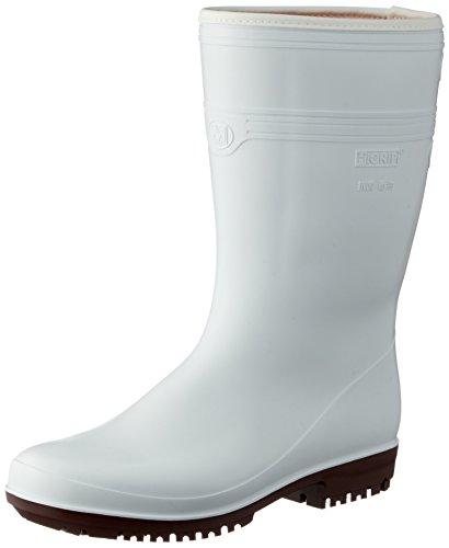 [ミドリ安全] 作業靴 長靴 耐滑 耐油 耐薬 ハイグリップ ホワイト 24 cm