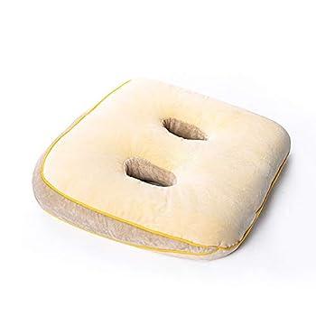 Orthopedic Seat Cushion - Memory Foam Sit Bone Relief Cushion for Butt Lower Back Hamstrings Hips Ischial Tuberosity - Home Office Car