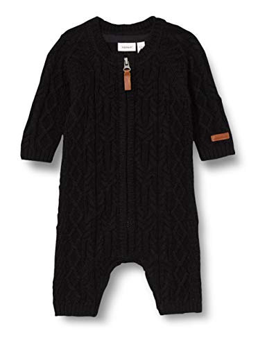 NAME IT NBMWRILLA Wool LS Knit Suit Noos XX Body, Negro, 80 cm para Bebés
