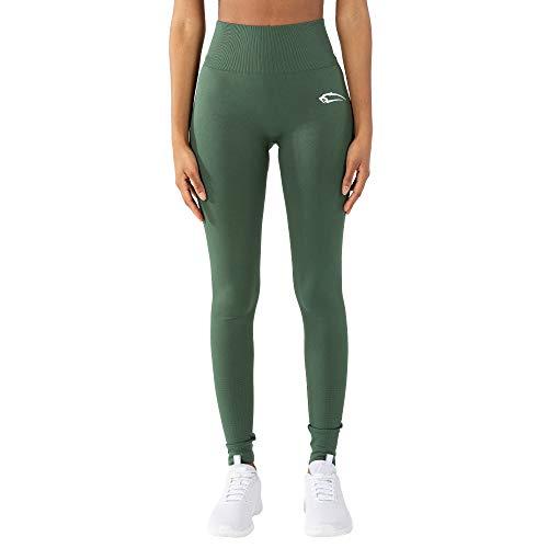 SMILODOX Damen Leggings Knowing | Leggings für Sport Fitness Gym Training & Freizeit | Sporthose - Workout Trainingshose, Größe:XS, Farbe:Grün