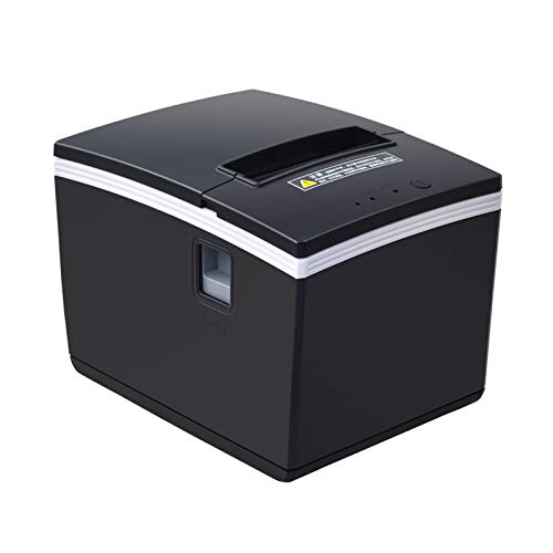 Lowest Price! 260N Thermal Printer – USB Serial Ethernet Port POS Thermal Receipt Printer Compatible 80mm Thermal Paper Rolls – 250mm/sec High-Speed Printing with ESC/POS Print Commands.(Black)