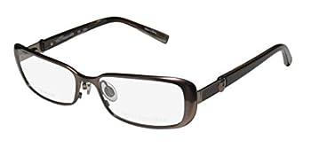 Trussardi 12507 For Ladies/Women Designer Full-Rim Shape Titanium Flexible Hinges Optical Eyeglasses/Spectacles  53-16-135 Brown