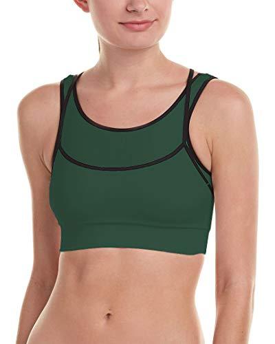 Phat Buddha Green Layered Sports Bra One Size