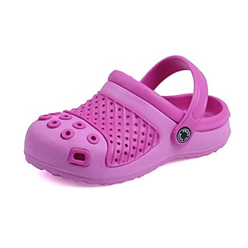 Vunavueya Zuecos y MULES de Jardín para Niños Sandalias Chanclas Zapatos de Playa y Piscina Niña Zapatillas Baño de Estar por Casa Verano Rosa Pink 29 EU(30CN)