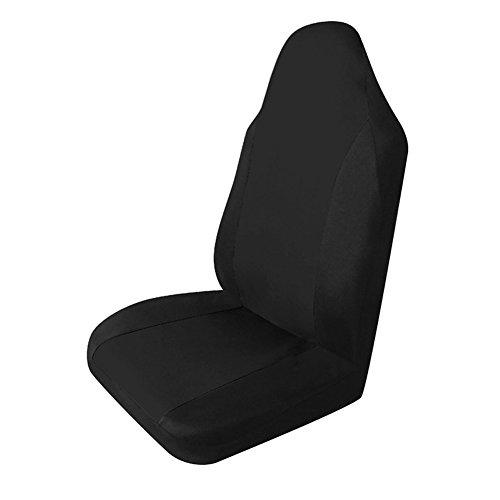 KKmoon Komplettset von Sitzbezügen, Universal, Einzelstück, langlebig, Sitzbezug fürs Auto schwarz