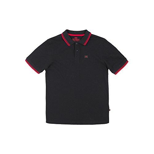 ALPHA INDUSTRIES Herren 166602 94 Overalls, Schwarz/Rot, XL