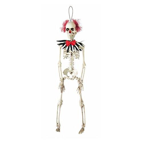 P'TIT Clown re16770 - Squelette clown à suspendre, 40cm