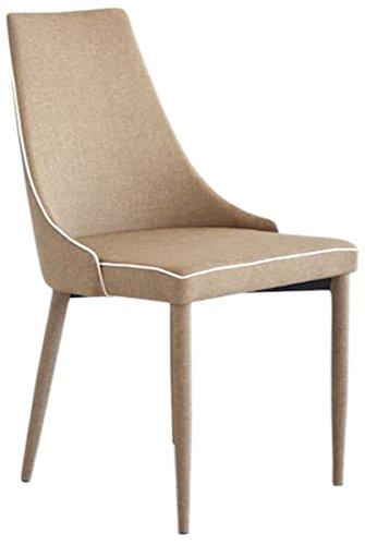 Fashion Commerce fc2702 Chaise Revêtement, Bois/métal, Taupe, 57 x 47 x 88 cm, 2 unités