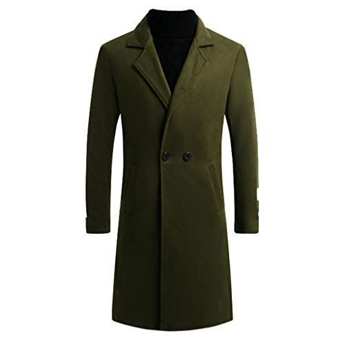Aoogo Herren Slim Fit Wollmantel Business Überzieher Schneeflocke Windjacke Mantel, Herren New Winter Style Modische warme Schneeflocke Windbreaker Coat Pure Coat