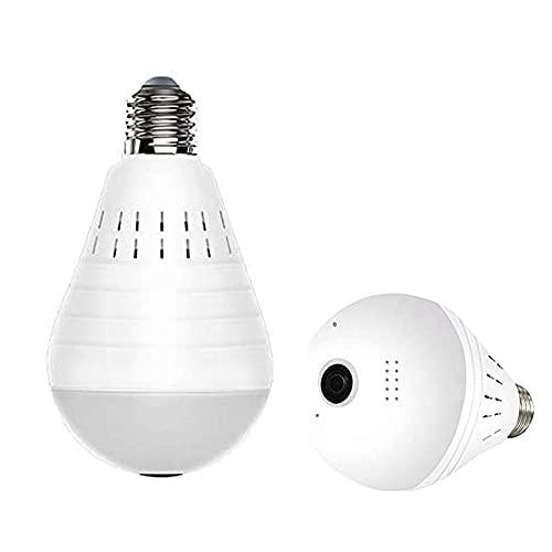 HHF LED Bulbs Lamps, WiFi Cámara panorámica Bombilla 960P Seguridad inalámbrica Inteligente E27 E26 Luz con visión Nocturna Tarjeta SD 16G / 32G / 64G / 128G Lámpara de Seguridad