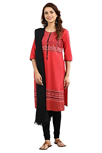 Aurelia Women's Kurta (19AUA11000-500716_Red Large)