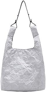 TOOGOO Paper Tote Bag Women Kraft Paper Bucket Bag Handbag Retro Vintage Style Shoulder Bag Casual Tote Shopper Brown