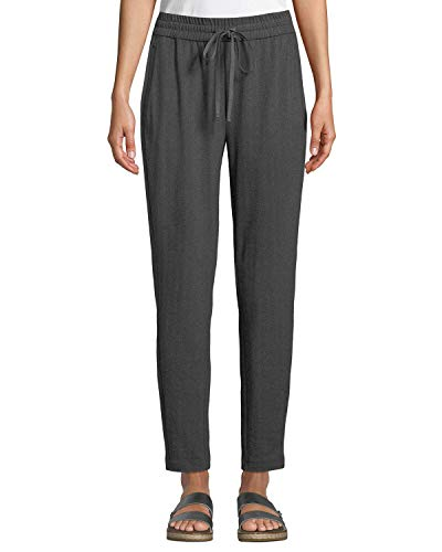 Eileen Fisher Charcoal Herringbone Recycled Polyester Blaend Slouchy Pants Size XL MSRP $198