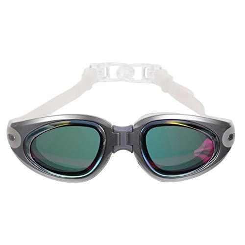PRETYZOOM Gafas de Natación Anti-Niebla Gafas de Natación de Gran Vista para Mujeres Hombres Adultos