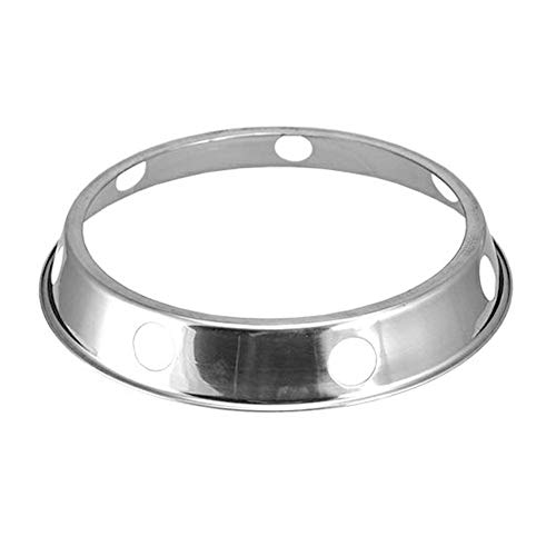 MEI Wok Ring Edelstahl Rack Küche Rundständer mit umkehrbarer Größe Küche