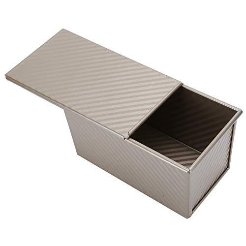 Emoshayoga Molde de Pan Caja de Pan de ondulación Dorada Baja en azúcar para Utensilios de Cocina para panadería