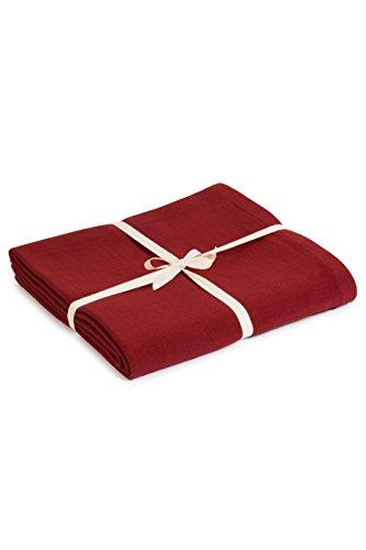 Yoga Studio Blanket/Burgundy/YS Manta de Yoga (algodón orgánico), Color Burdeos, Unisex, Granate, Normal