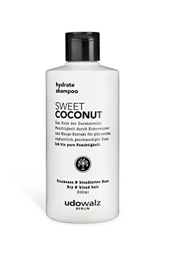 Udo Walz Hairfood Hydrating Shampoo Sweet Coconut, 1er Pack (1 x 300 ml)